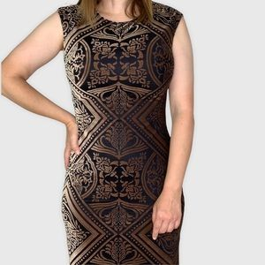 Vince Camuto Burnout Velvet Sheath Dress Size 8